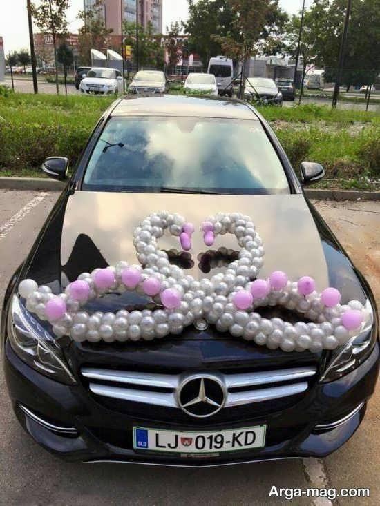 دکوراسیون زیبای ماشین عروس ماشین عروس