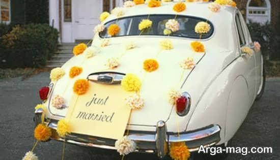 تزیین خاص ماشین عروس