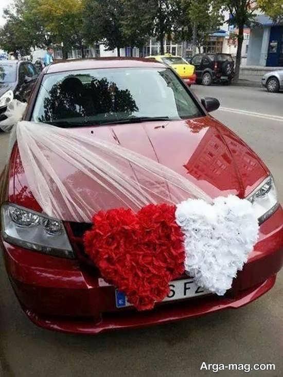 تزیین زیبای ماشین عروس