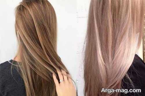 فرمول ترکیبی رنگ موی کاراملی ارغوانی