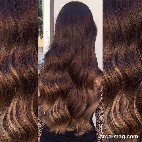 رنگ موی زیبا و تیره کاراملی