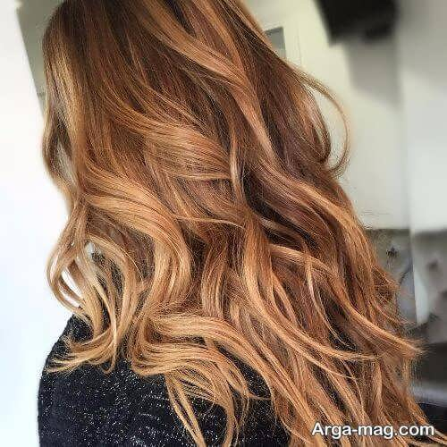 رنگ موی زیبا و شیک کاراملی