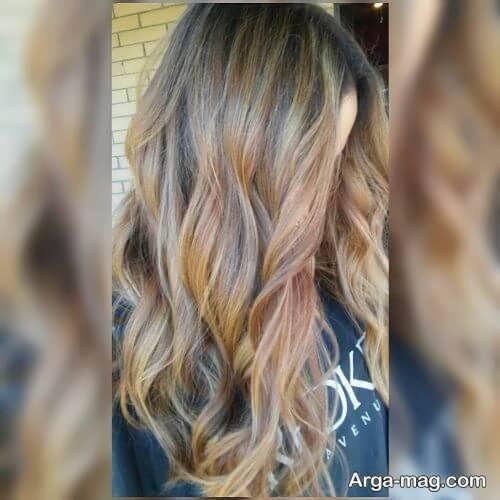 رنگ مو کاراملی روشن