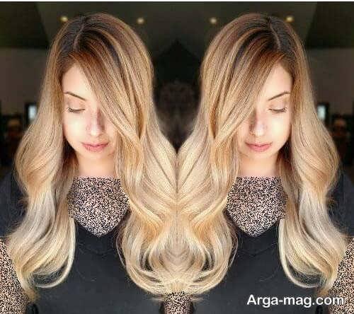 رنگ موی بلوند کاراملی