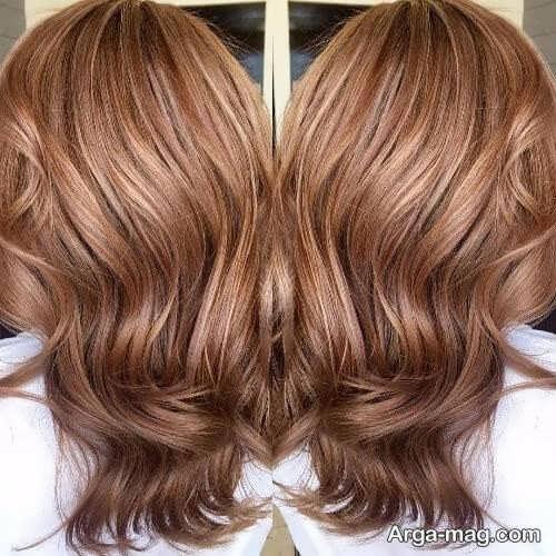 رنگ مو زنانه کاراملی