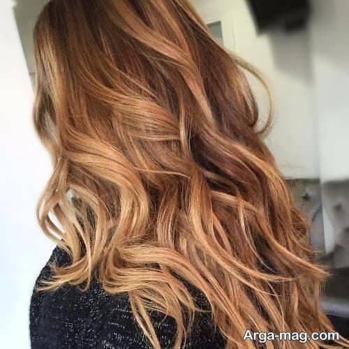 رنگ موی زیبا و جذاب کاراملی