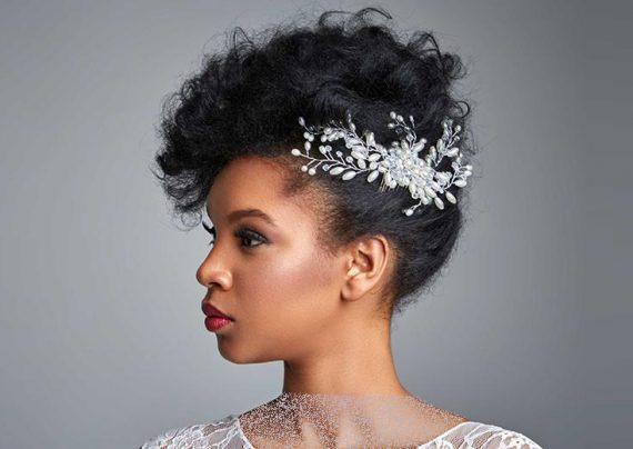 شینیون عروس با موی مشکی