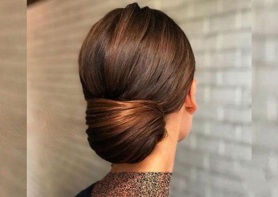 شینیون موهای متوسط