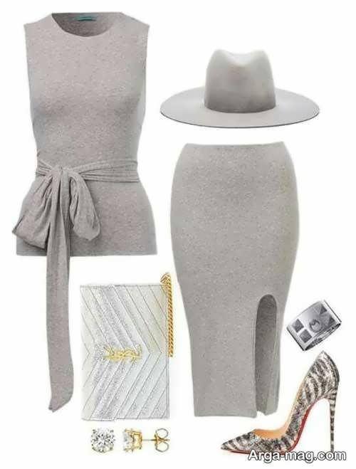 مدل لباس مجلسی طوسی