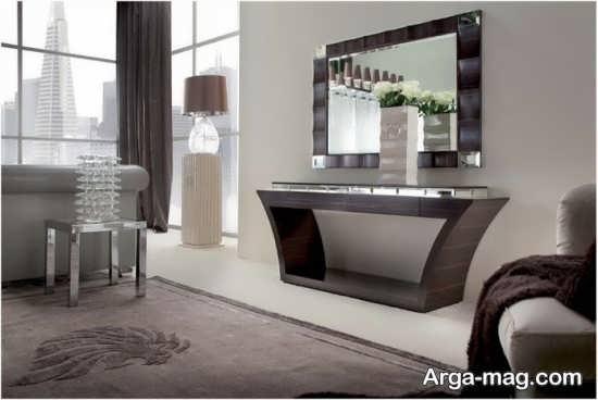مدل میز و آینه کنسول مدرن