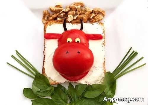 تزئین پنیر برای کودکان