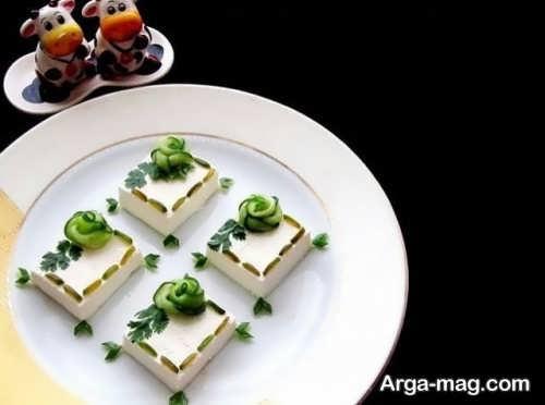 تزئین ساده پنیر