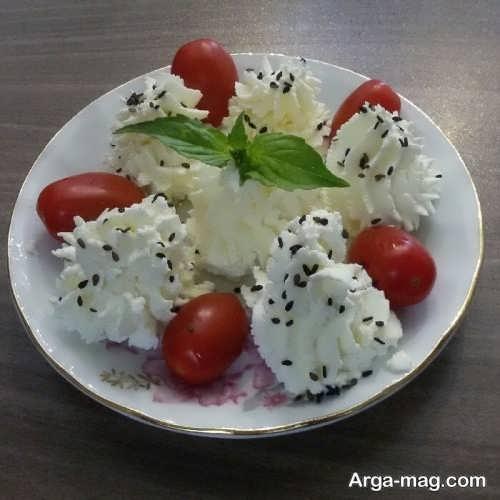 تزئین ساده و زیبا پنیر