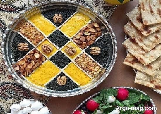 تزیین زیبای غذاهای ایرانی