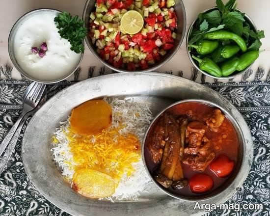 تزئینات غذاهای ایرانی