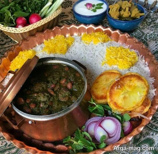 جالب ترین تزئینات غذاهای ایرانی