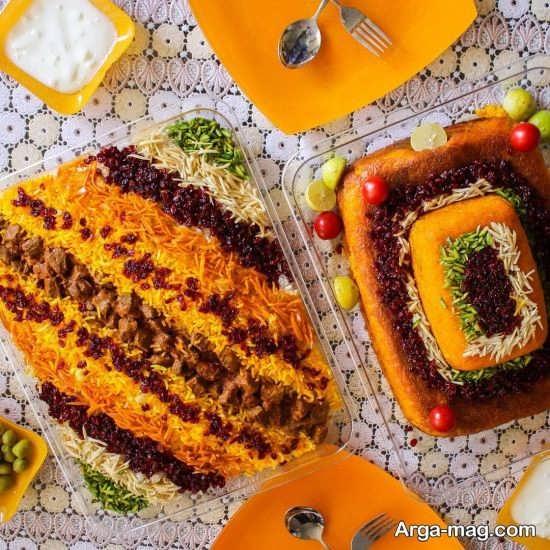 شیک ترین تزئینات غذاهای ایرانی