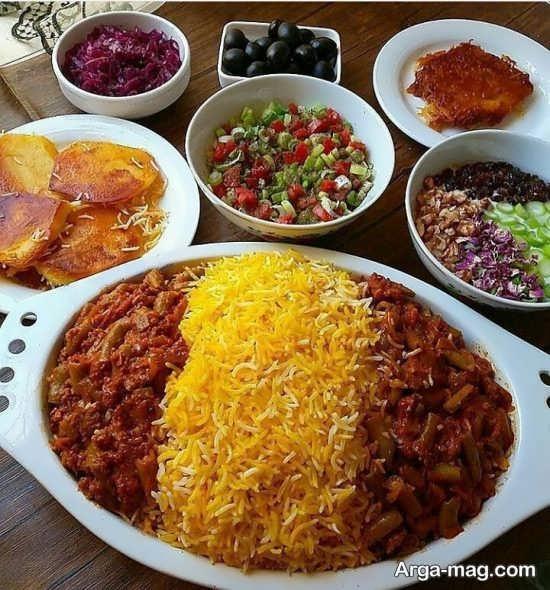 متنوع ترین تزئینات غذاهای ایرانی