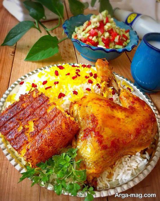 ایده های خاص برای تزئینات غذاهای ایرانی