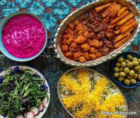 ایده های متفاوت برای تزئینات غذاهای ایرانی