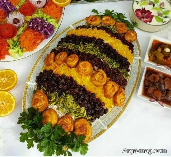 تزیین شیک غذاهای ایرانی