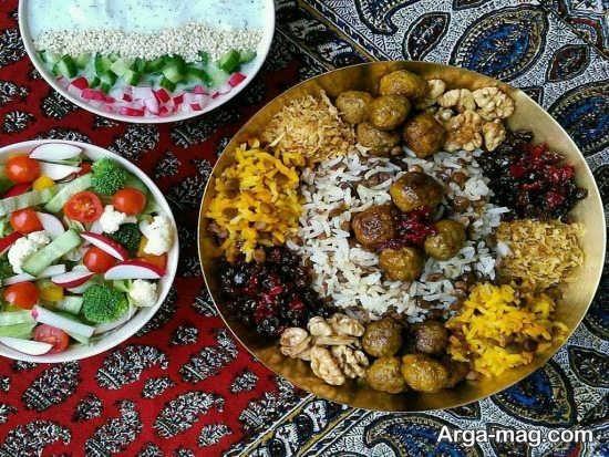 تزئینات زیبا غذاهای ایرانی