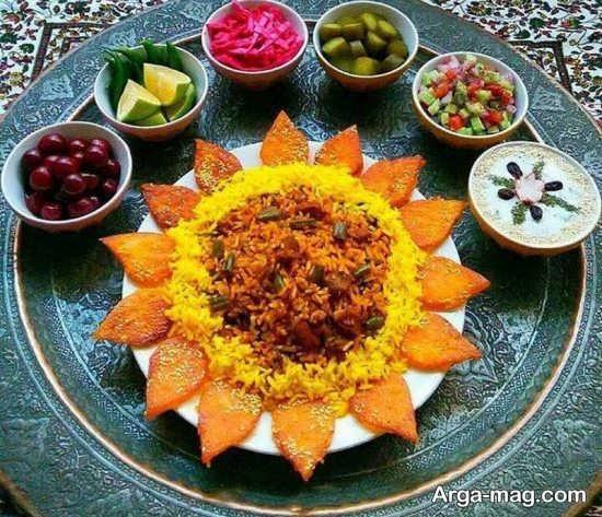 تزئینات مجلسی غذاهای ایرانی