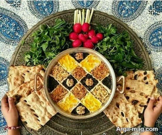 تزئینات متفاوت غذاهای ایرانی