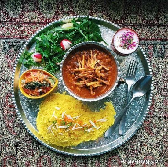 تزئینات خلاقانه غذاهای ایرانی