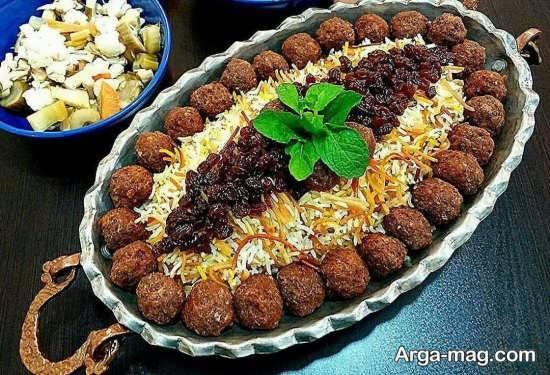 تزئینات ویژه غذاهای ایرانی