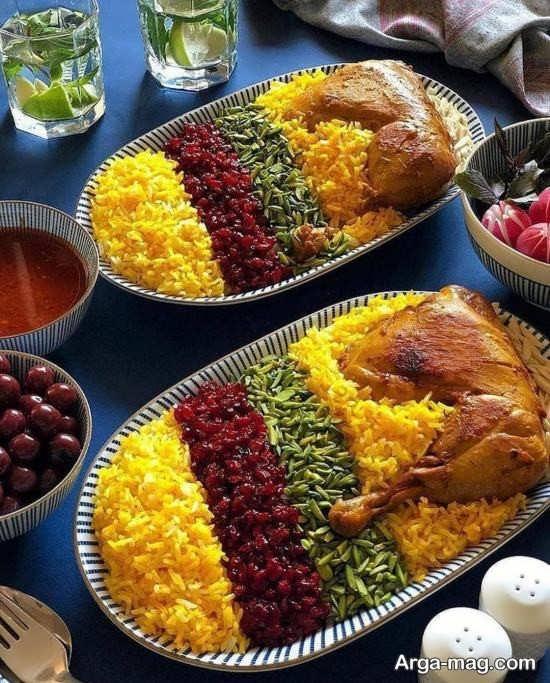 تزیین جذاب غذاهای ایرانی