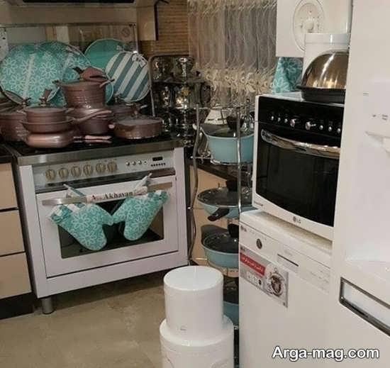 ایده متفاوت برای تزئین و چیدمان وسایل آشپزخانه عروس