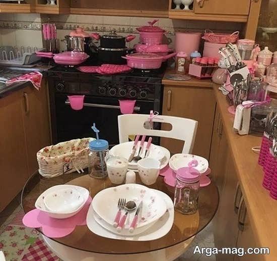 ایده شیک تزئین و چیدمان وسایل آشپزخانه عروس