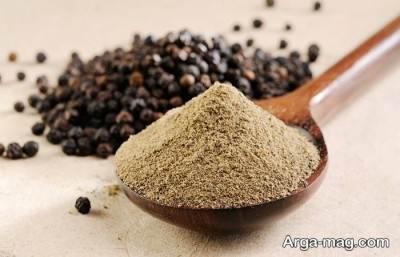مصرف پودر فلفل سیاه