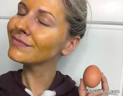 ماسک مغذی زرده تخم مرغ