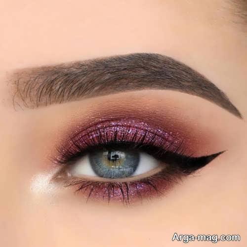 خط چشم زیبا و ساده