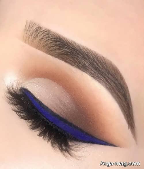 مدل خط چشم آبی زنانه
