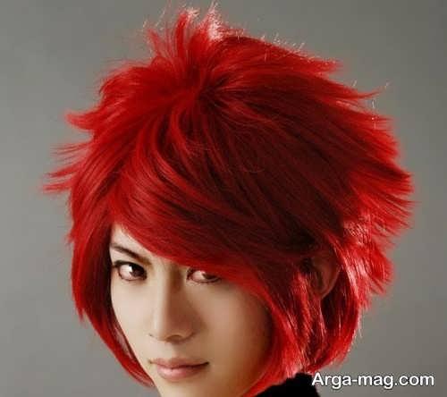 رنگ مو قرمز فشن