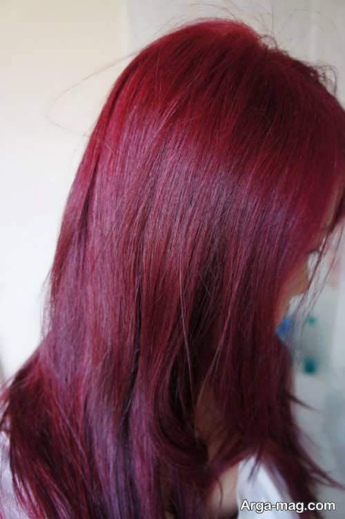 رنگ موی زیبا و جذاب شرابی بنفش