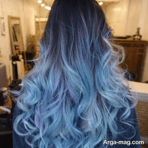 رنگ مو یخی آبی