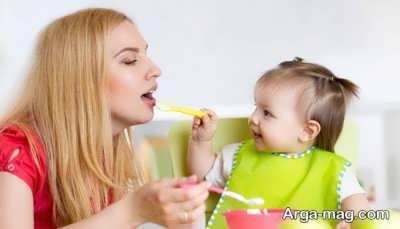 تغذیه نوزاد یک ساله