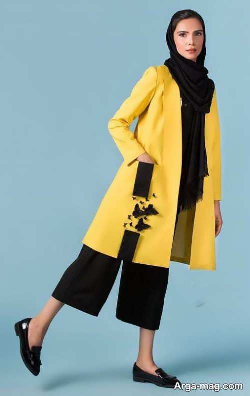 مانتو زرد ایرانی