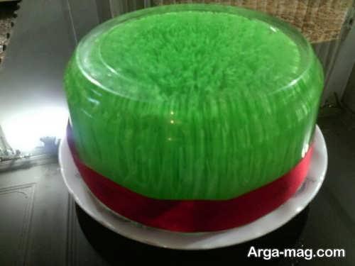 تزیین جالب ژله سبزه