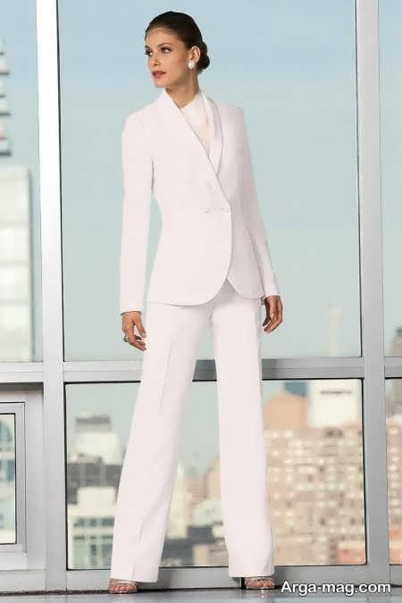 کت و شلوار مجلسی و سفید زنانه