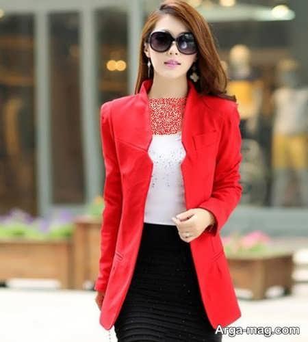 کت قرمز و کره ای زنانه