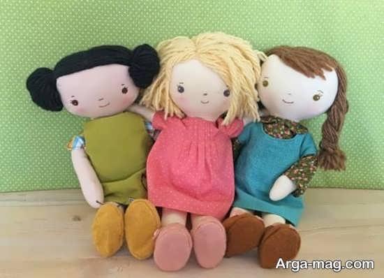 طرح های زیبا برای ساختن عروسک پارچه ای