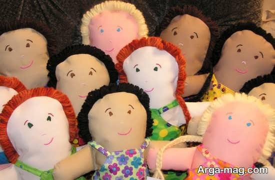 طرح های جذاب برای ساختن عروسک پارچه ای