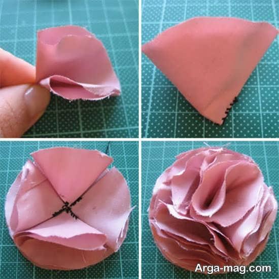 ساخت انواع گل پارچه ای با ایده های خلاقانه