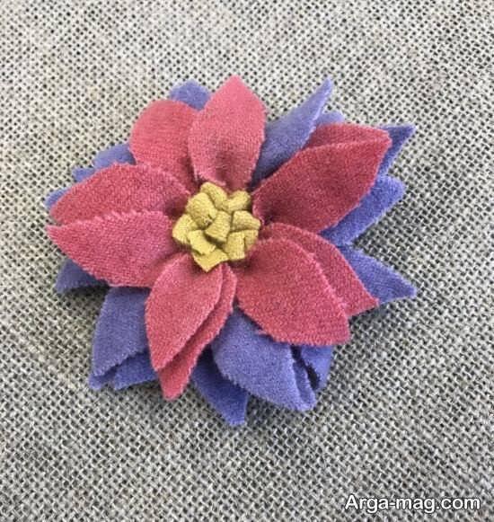 ساخت انواع گل پارچه ای با ایده های هنرمندانه