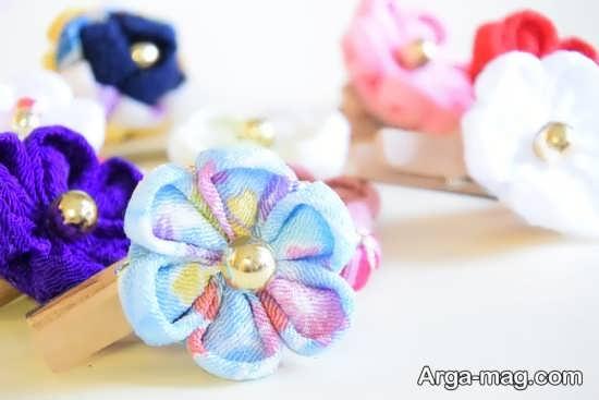 آموزش سریع ساخت گل پارچه ای